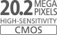 20,2megapikselin CMOS-kenno