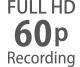Full HD -kuvataajuudet väliltä 24p–60p