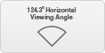 Horizontal view angle 124.3°
